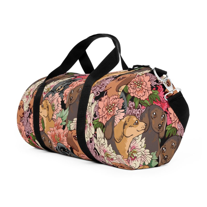Because Dachshund Accessories Duffel Bag Bag by huebucket's Artist Shop