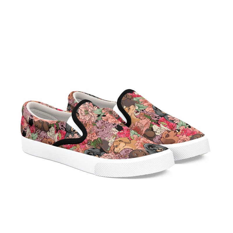 Because Dachshund Women's Slip-On Shoes by huebucket's Artist Shop