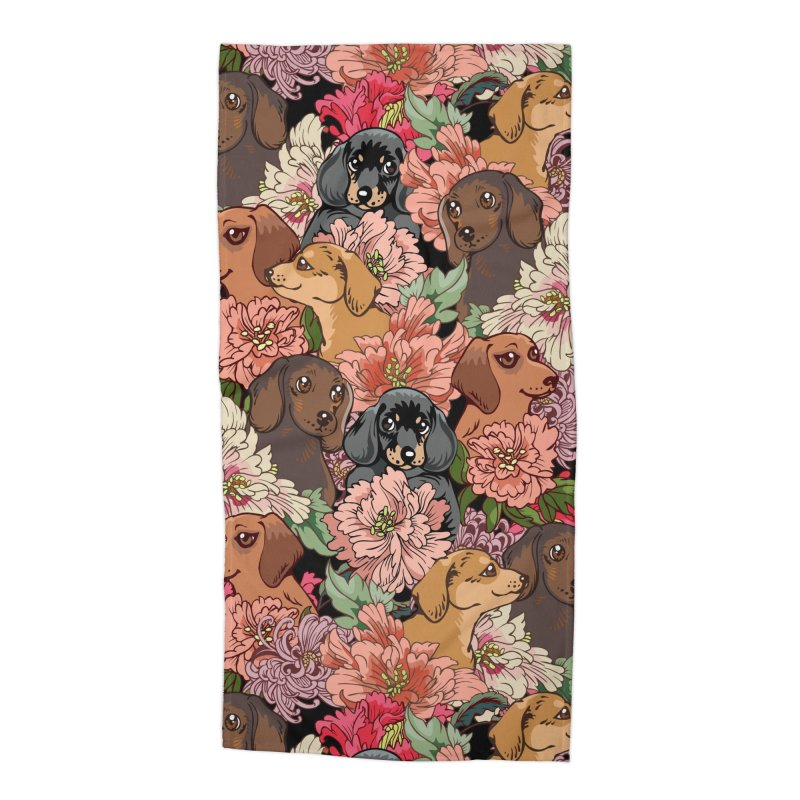 Because Dachshund Accessories Beach Towel by huebucket's Artist Shop