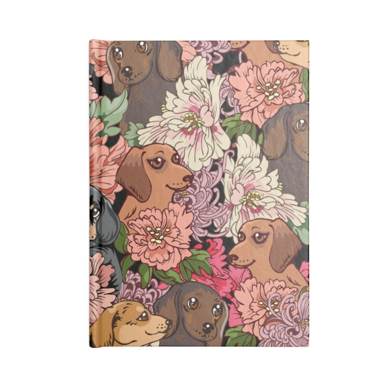 Because Dachshund Accessories Notebook by huebucket's Artist Shop