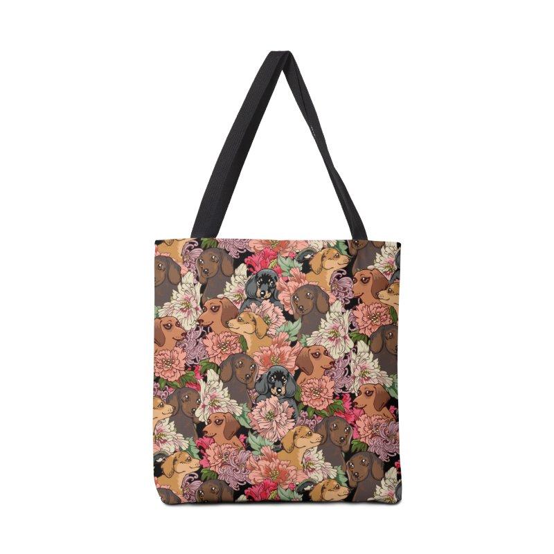 Because Dachshund Accessories Bag by huebucket's Artist Shop