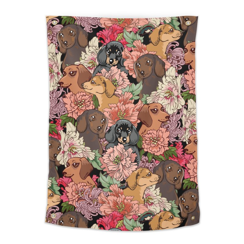 Because Dachshund Home Tapestry by huebucket's Artist Shop