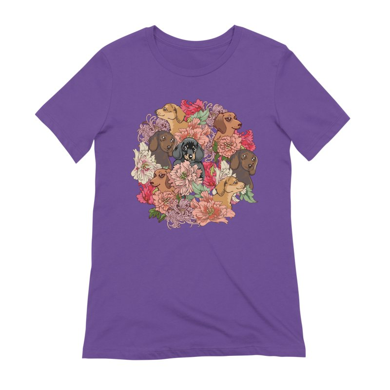 Because Dachshund Women's Extra Soft T-Shirt by huebucket's Artist Shop