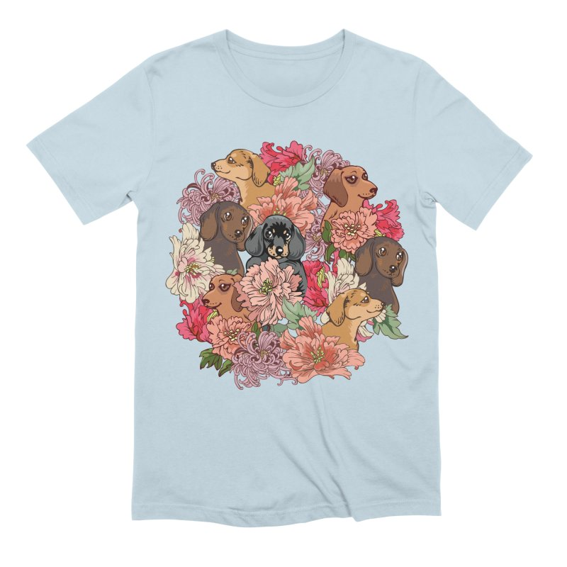 Because Dachshund Men's Extra Soft T-Shirt by huebucket's Artist Shop