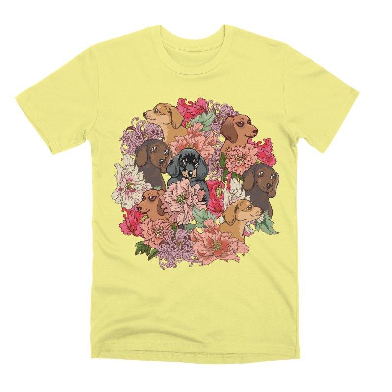 Because Dachshund Men's Premium T-Shirt by huebucket's Artist Shop
