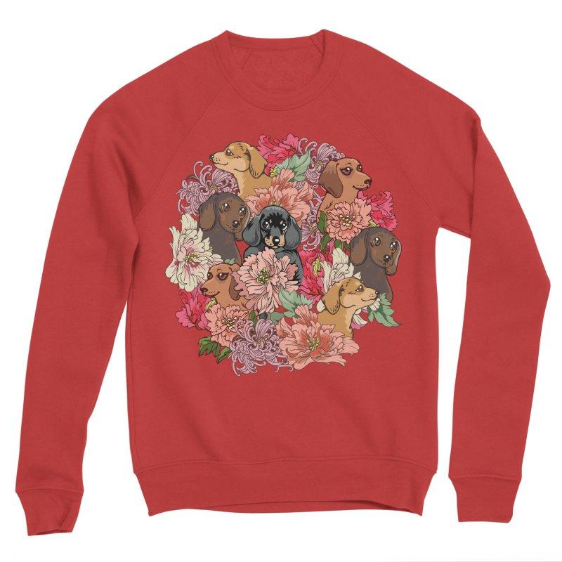Because Dachshund Men's Sponge Fleece Sweatshirt by huebucket's Artist Shop