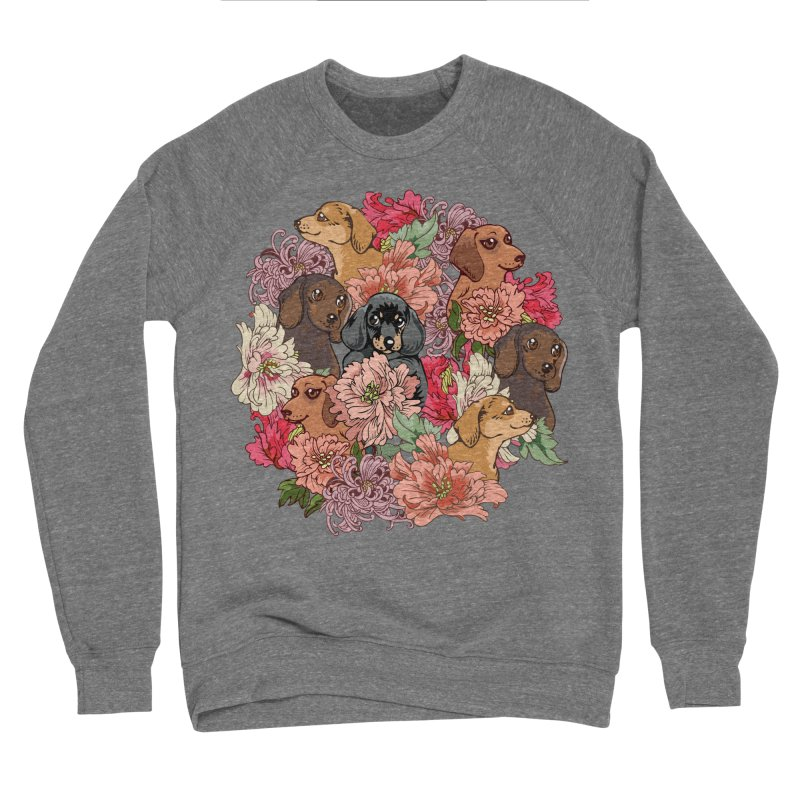 Because Dachshund Women's Sponge Fleece Sweatshirt by huebucket's Artist Shop
