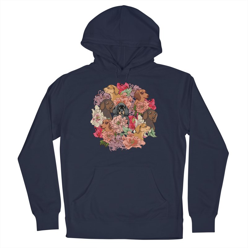 Because Dachshund Men's Pullover Hoody by huebucket's Artist Shop
