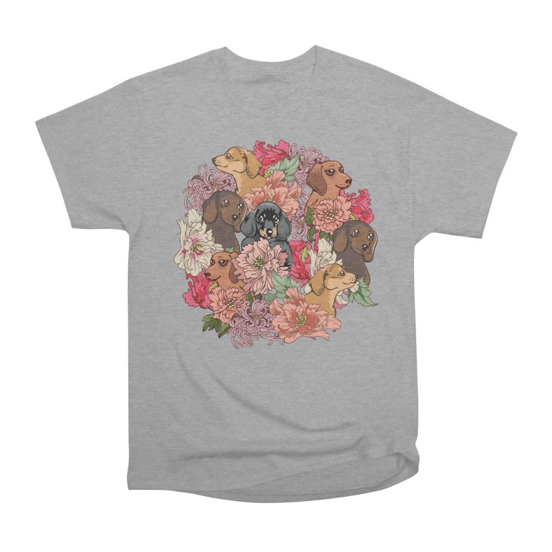 Because Dachshund Men's Heavyweight T-Shirt by huebucket's Artist Shop