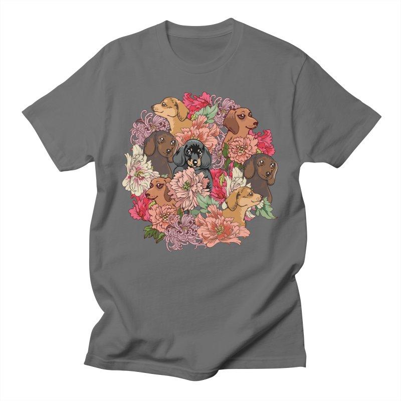 Because Dachshund Men's T-Shirt by huebucket's Artist Shop