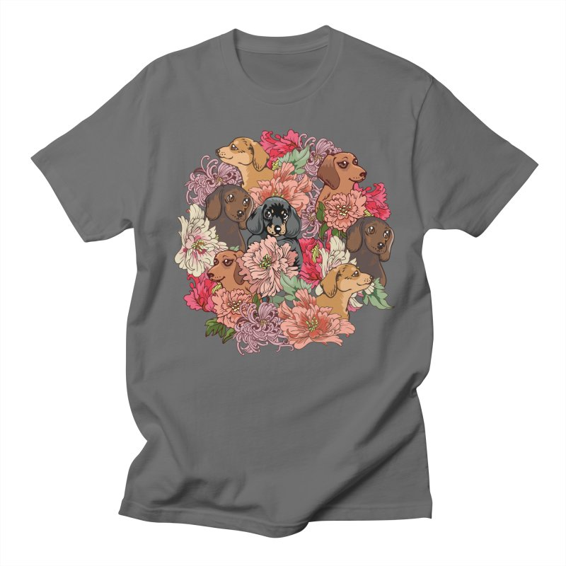 Because Dachshund Men's T-Shirt by huebucket's Artist Shop