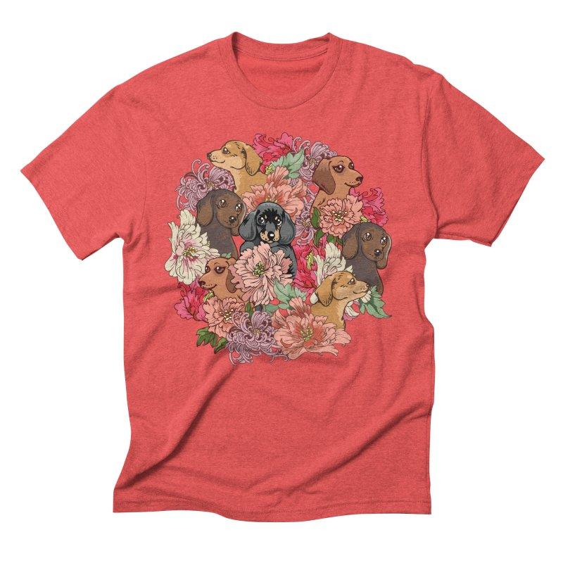 Because Dachshund Men's Triblend T-Shirt by huebucket's Artist Shop