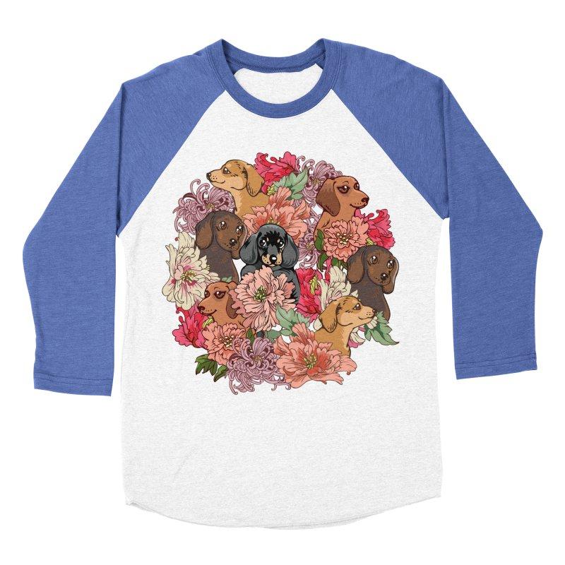 Because Dachshund Women's Baseball Triblend Longsleeve T-Shirt by huebucket's Artist Shop