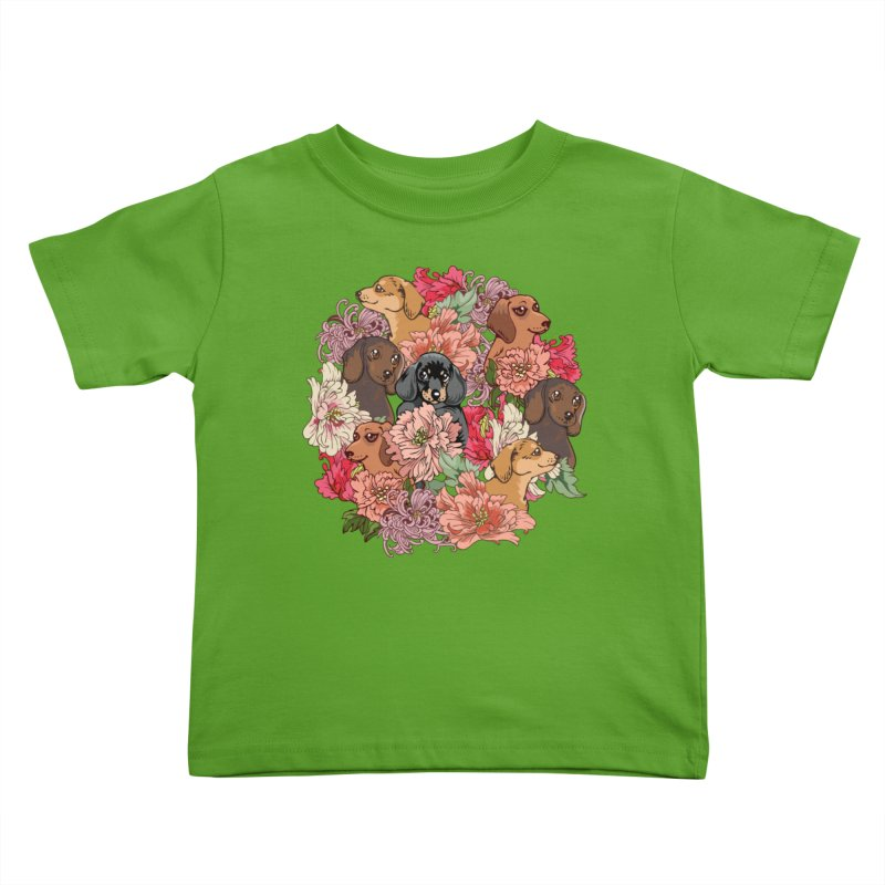 Because Dachshund Kids Toddler T-Shirt by huebucket's Artist Shop