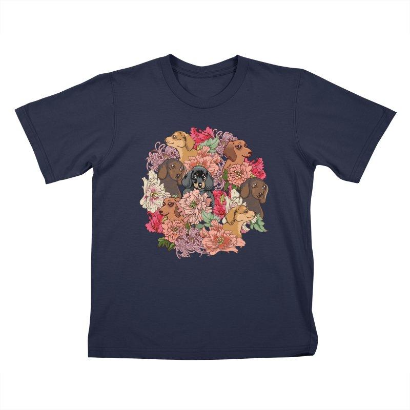 Because Dachshund Kids T-Shirt by huebucket's Artist Shop