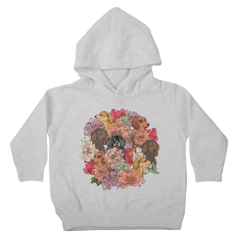 Because Dachshund Kids Toddler Pullover Hoody by huebucket's Artist Shop