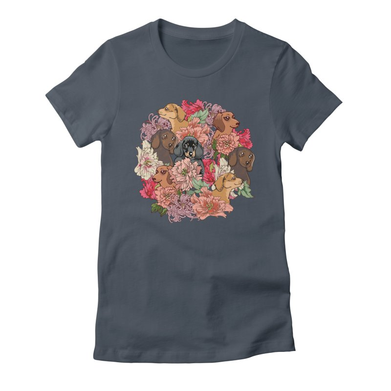 Because Dachshund Women's T-Shirt by huebucket's Artist Shop