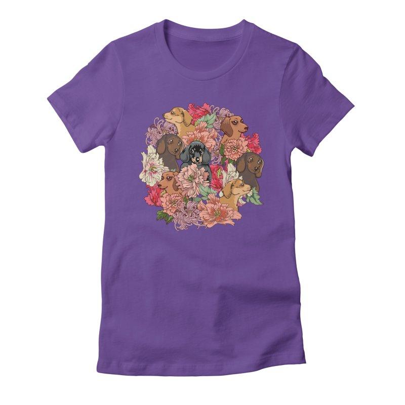 Because Dachshund Women's T-Shirt by huebucket's Artist Shop