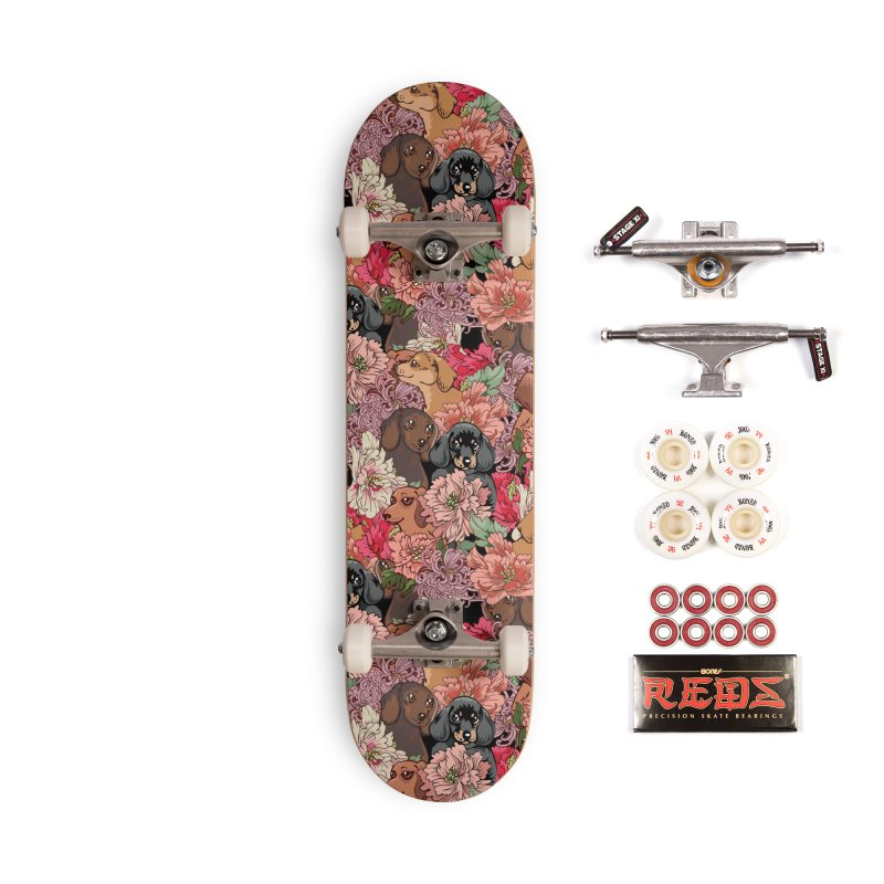 Because Dachshund Accessories Complete - Pro Skateboard by huebucket's Artist Shop
