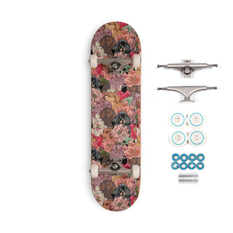 Because Dachshund Accessories Complete - Basic Skateboard by huebucket's Artist Shop