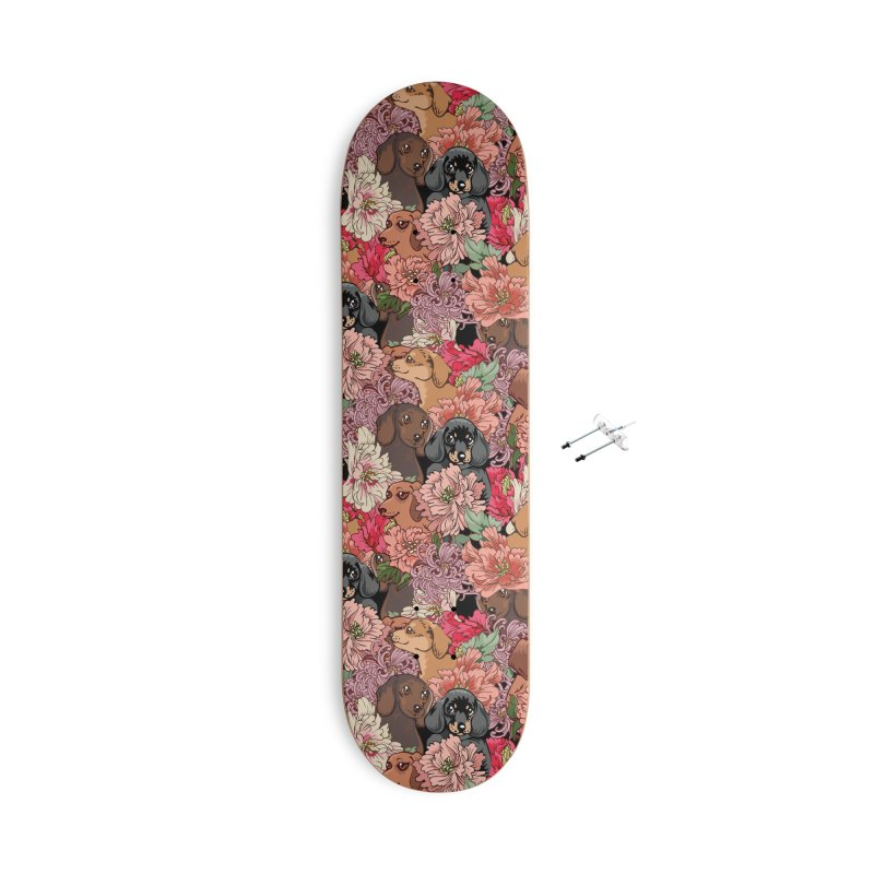 Because Dachshund Accessories With Hanging Hardware Skateboard by huebucket's Artist Shop