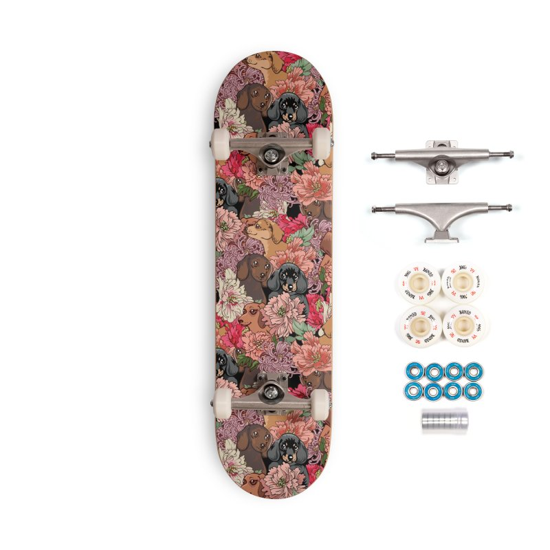 Because Dachshund Accessories Complete - Premium Skateboard by huebucket's Artist Shop