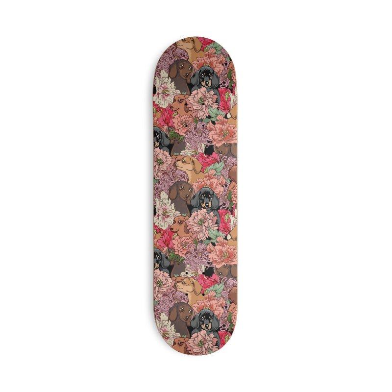 Because Dachshund Accessories Deck Only Skateboard by huebucket's Artist Shop