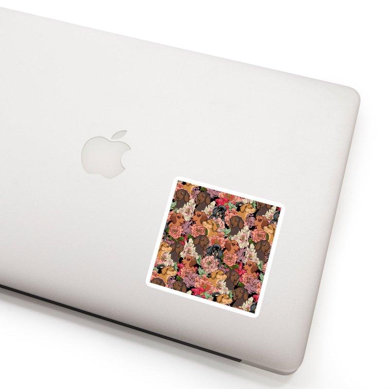 Because Dachshund Accessories Sticker by huebucket's Artist Shop