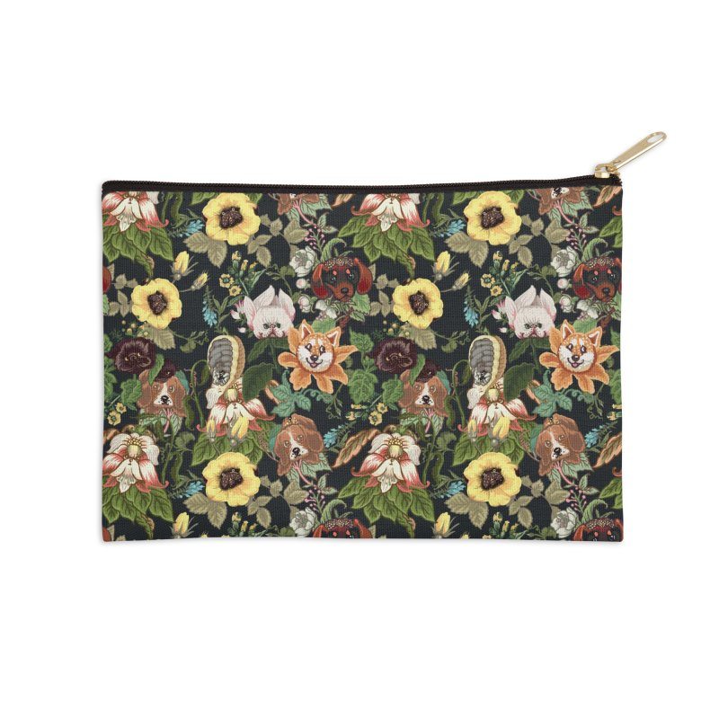 Botanical Puppies Accessories Zip Pouch by huebucket's Artist Shop