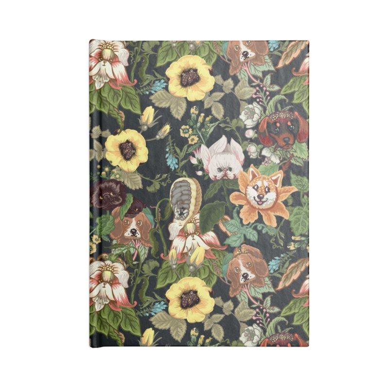 Botanical Puppies Accessories Notebook by huebucket's Artist Shop