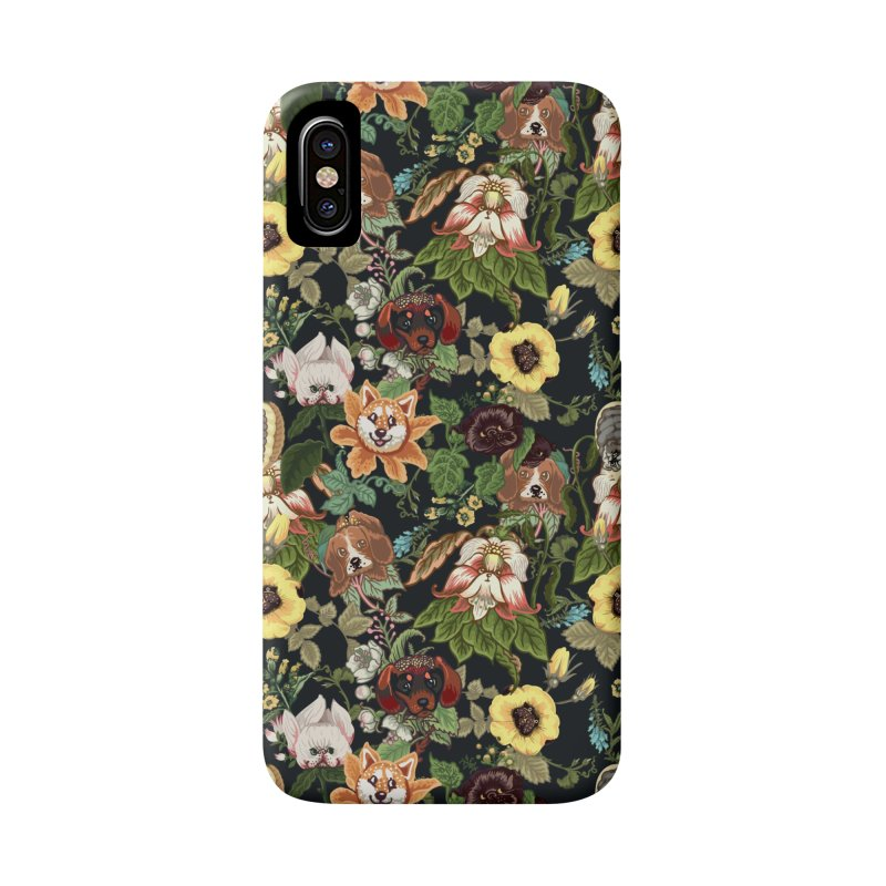 Botanical Puppies Accessories Phone Case by huebucket's Artist Shop