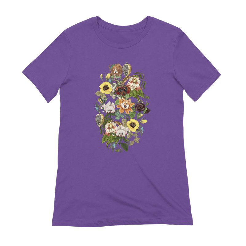 Botanical Puppies Women's Extra Soft T-Shirt by huebucket's Artist Shop