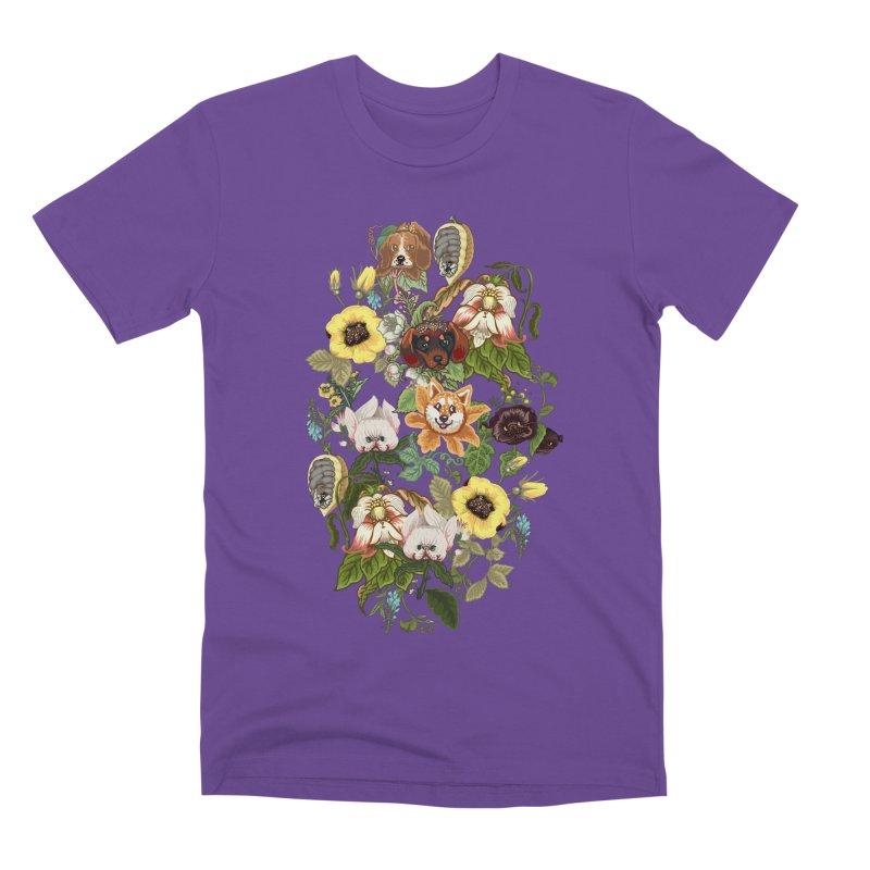Botanical Puppies Men's Premium T-Shirt by huebucket's Artist Shop