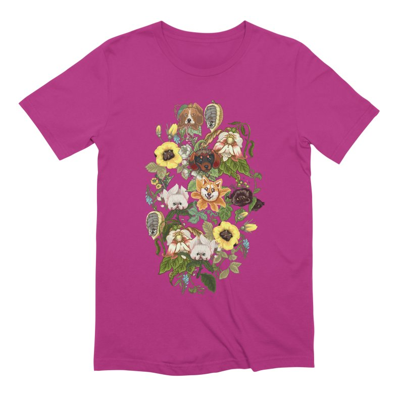 Botanical Puppies Men's Extra Soft T-Shirt by huebucket's Artist Shop