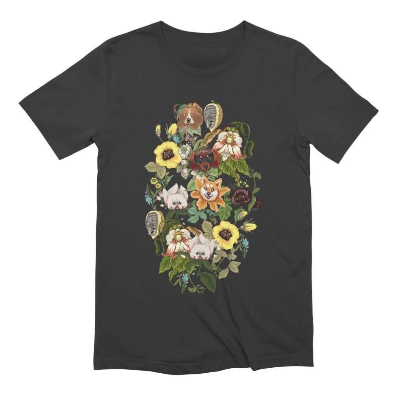 Botanical Puppies Men's Extra Soft T-Shirt by huebucket's Artist Shop