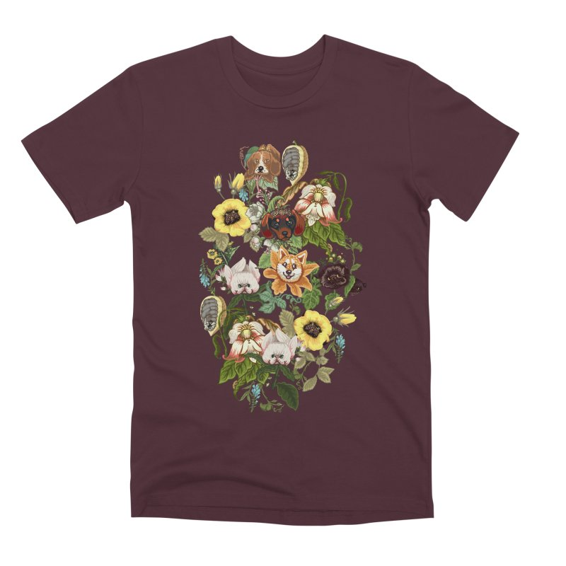 Botanical Puppies Men's Premium T-Shirt by huebucket's Artist Shop