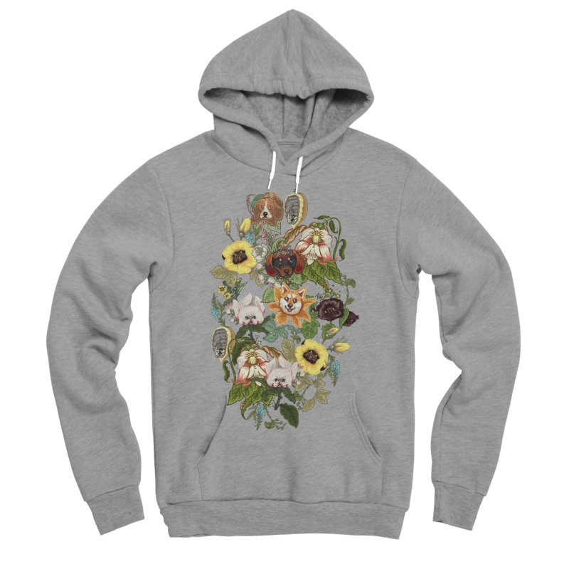 Botanical Puppies Women's Sponge Fleece Pullover Hoody by huebucket's Artist Shop