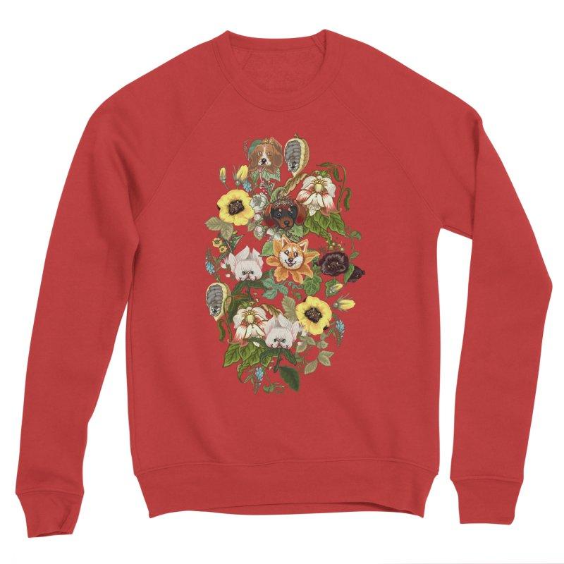 Botanical Puppies Men's Sponge Fleece Sweatshirt by huebucket's Artist Shop