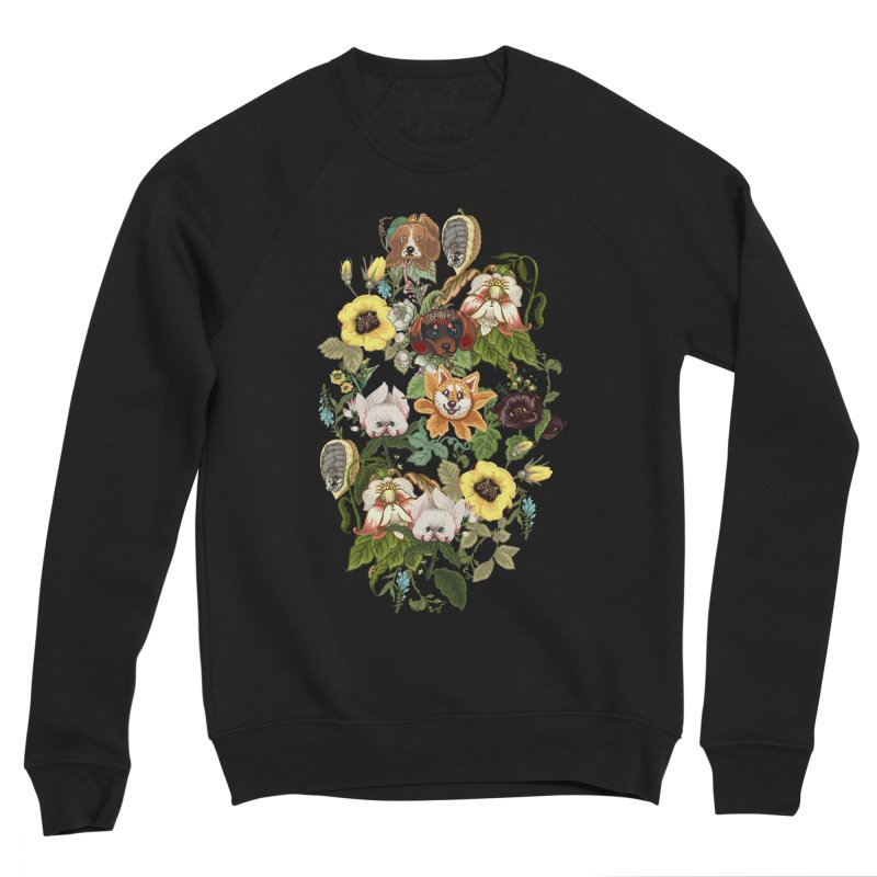 Botanical Puppies Women's Sponge Fleece Sweatshirt by huebucket's Artist Shop