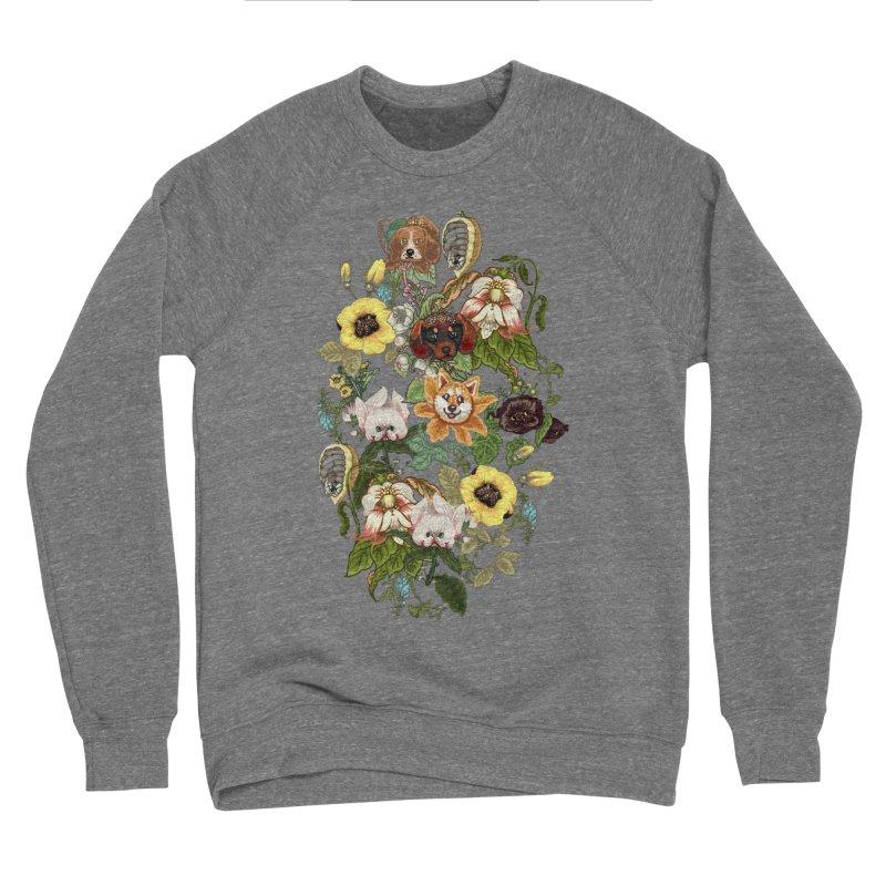 Botanical Puppies Women's Sponge Fleece Sweatshirt by huebucket's Artist Shop