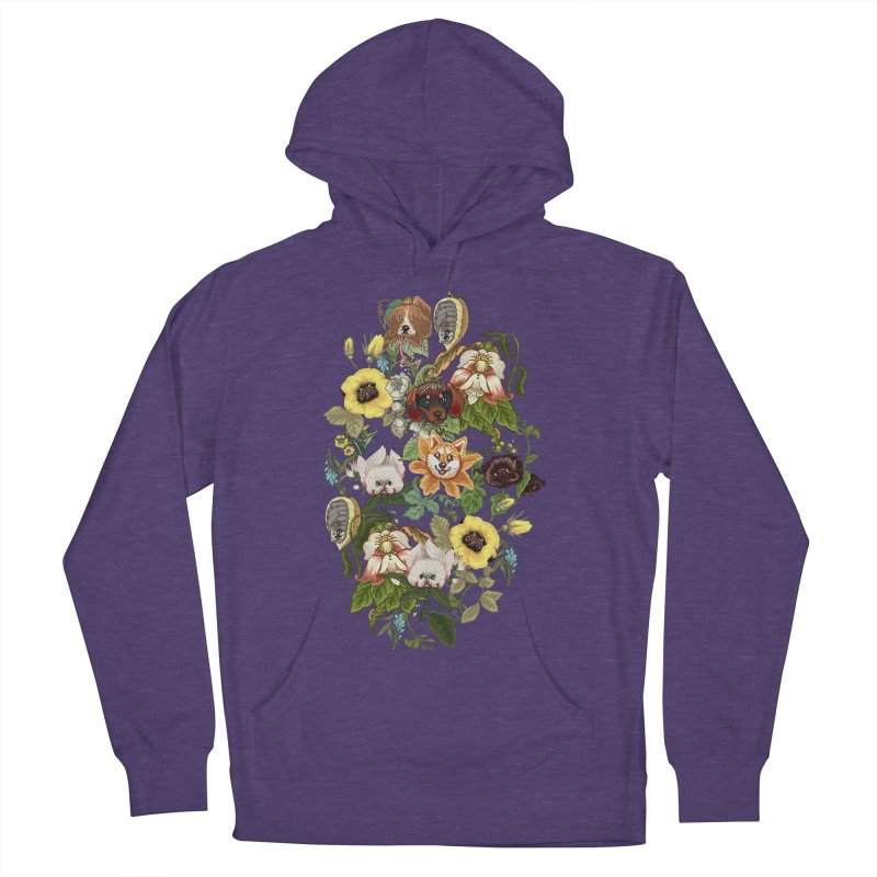 Botanical Puppies Men's French Terry Pullover Hoody by huebucket's Artist Shop