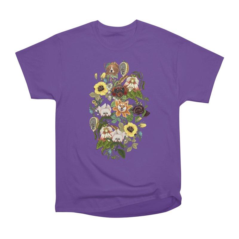 Botanical Puppies Women's Heavyweight Unisex T-Shirt by huebucket's Artist Shop