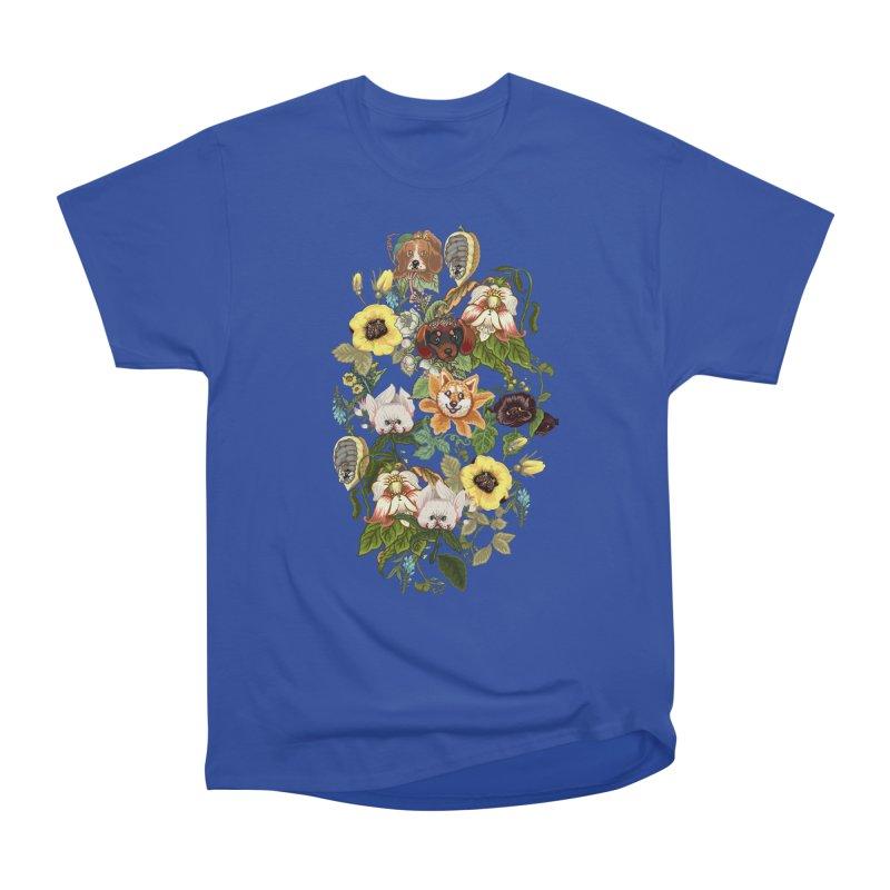 Botanical Puppies Men's Heavyweight T-Shirt by huebucket's Artist Shop