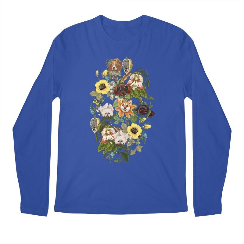Botanical Puppies Men's Regular Longsleeve T-Shirt by huebucket's Artist Shop