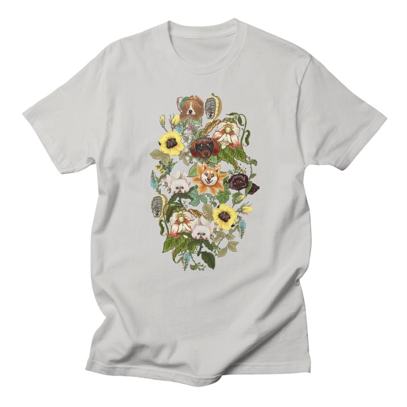 Botanical Puppies Women's Regular Unisex T-Shirt by huebucket's Artist Shop