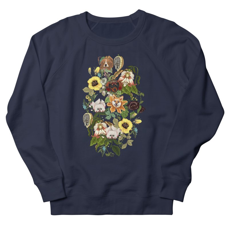 Botanical Puppies Men's Sweatshirt by huebucket's Artist Shop