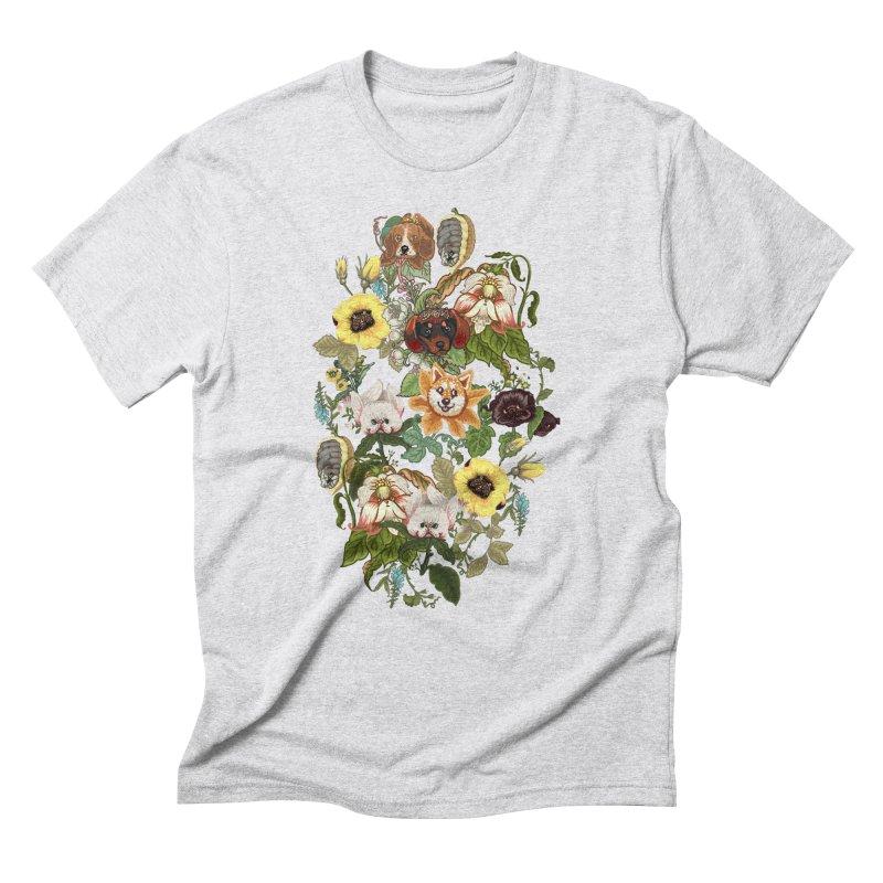 Botanical Puppies Men's Triblend T-Shirt by huebucket's Artist Shop