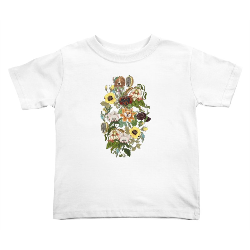 Botanical Puppies Kids Toddler T-Shirt by huebucket's Artist Shop