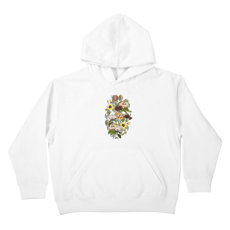 Botanical Puppies Kids Pullover Hoody by huebucket's Artist Shop