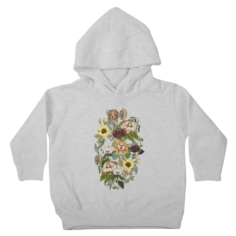 Botanical Puppies Kids Toddler Pullover Hoody by huebucket's Artist Shop